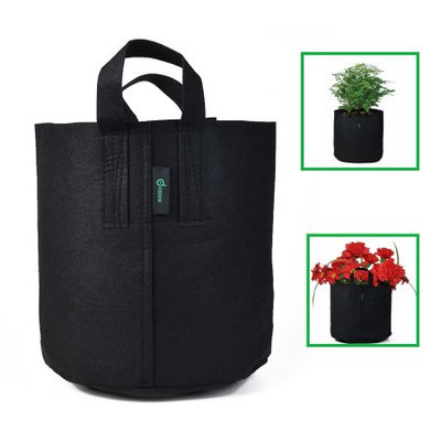 Odoland Soft-sided Fabric Aeration Container Planting Pot Grow Bag 10 Gallons