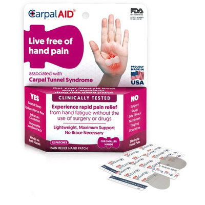 CarpalAID Functional Support for Carpal Tunnel Syndrome-Small-12/Pack
