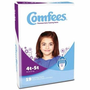 Comfees Premium Training Pants, Girls 4T-5T (38+ Lbs) - Case of 114