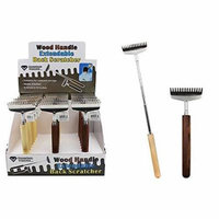 Diamond Visions 11-1663 Wood Handle Extendable Back Scratcher in Assorted Wood Colors