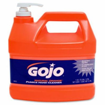 Gojo GOJ095504CT Hand Cleaner,Orange Pumice, with Baby Oil,1 Gal,4-CT,Citrus