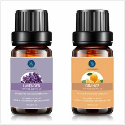 Lavender Orange Essential Oil,10ML Natural Pure Aromatherapy Oils Therapeutic Grade, Value 2 Pack