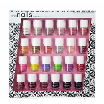 The Color Workshop Epic Nail Collection, 24 Count