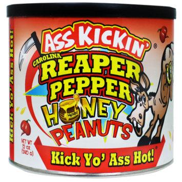 Ass Kickin Carolina Reaper Pepper Honey Peanuts - 12 oz