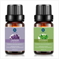 Lavender Peppermint Essential Oil,10ML Natural Pure Aromatherapy Oils Therapeutic Grade, Value 2 Pack