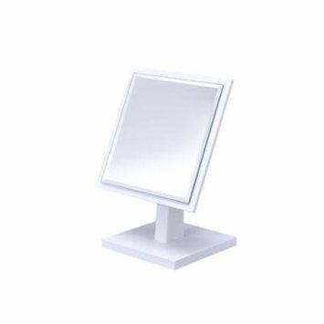 Ebern Designs Balbuena Square Beveled Makeup/Shaving Mirror on Pedestal