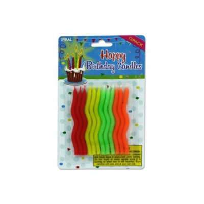 Spiral Birthday Candles - Set of 36
