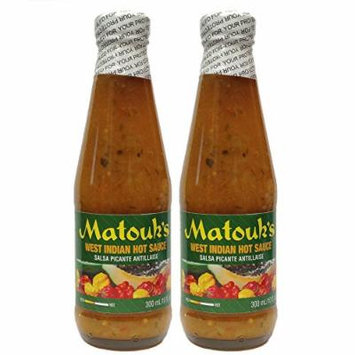 Matouk's West Indian Hot Sauce-Salsa Picante (Pack of 2)