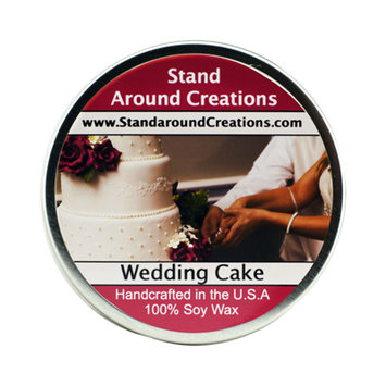 WEDDING CAKE TIN 6-OZ.