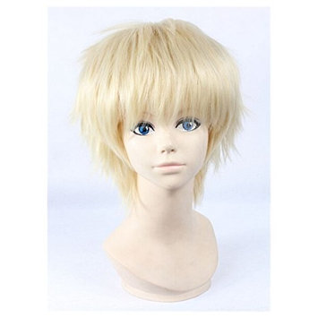 COSPLAZA Anime Cosplay Wigs Short Hair Light Blonde Boy Male Anime Show full wigs