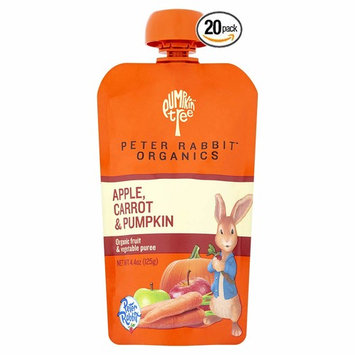 Peter Rabbit Organics Apple, Carrot and Pumpkin Puree, 4.4-Ounce Pouches - Pack of 20