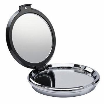 Diamante Embellished Compact Mirror Gunmetal - Pack of 2