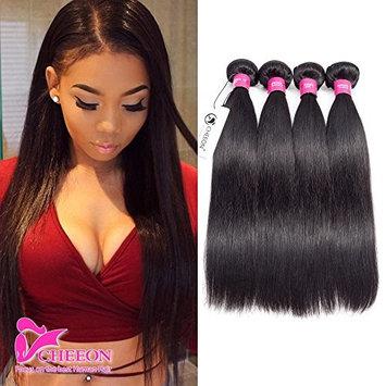 8A Malaysian Virgin Hair Straight 4 Bundles Deals 20 22 24 26 Inches 100% Unprocessed Human Hair Bundles Weave 400g Natural Black Can be...