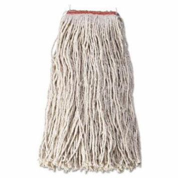 RCPF51812WHI Cut-End Blend Mop Heads, Cotton/Synthetic, White, 24 oz, 1-in. Headband