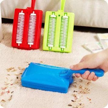 Jeobest Double Brush Head Handheld Carpet Table Crumb Dirt Fur Cleaner Collector Roller MZ