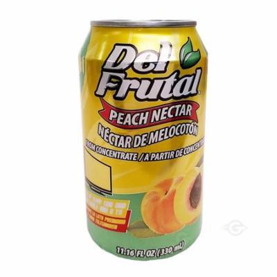 Del Frutal Peach Nectar 11.16 oz - Sabor Melocoton (Pack of 12)