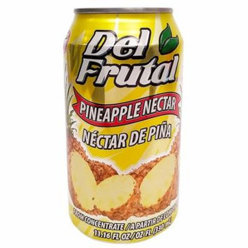Del Frutal Pineapple Nectar 11.16 oz - Sabor Pina (Pack of 6)