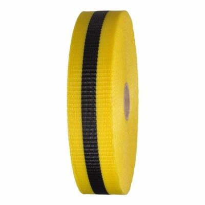 Woven Barricade Tape 2 in x 150 ft Yellow with Black Stripe Case