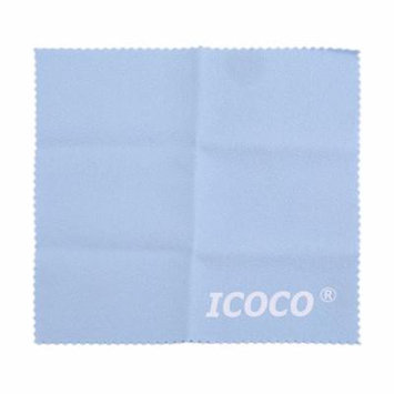 Light Blue ICOCO Soft Eyeglasses Cleaning Cloth Dual Surface Velvet Sunglasses Camera Duster Cloth Glasses Cleaning Accessory