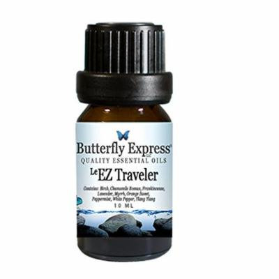 Butterfly Express Pure Essential Oils-Le EZ Traveler 10ml(INGREDIENTS: birch, chamomile Roman, frankincense, lavender, myrrh, orange sweet, peppermint, ylang ylang) by Butterfly Express