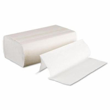 Boardwalk Multifold Paper Towels, Bleached White, 9 x 9 9/20 - sixteen packs of 250 paper towels.