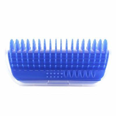 Pet Cat Massager Brush Comfortable Corner Cat Massage Self Groomer Comb, Blue