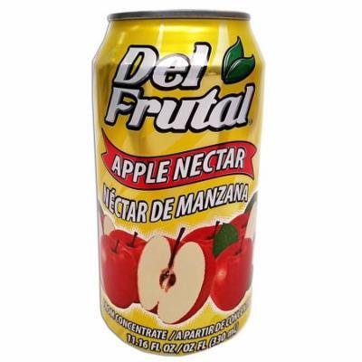 Del Frutal Apple Nectar 11.16 oz - Sabor Manzana (Pack of 18)