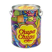 Chupa Chups Forever Fun Nostalgia Lollipops Tin, 80 Lollipops Per Tin