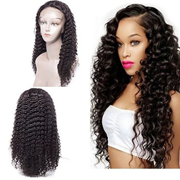 Maxine Brazilian Curly Wigs For Black Women Lace Front with Baby Hair for Black Women 130% Density Natural Color 16inch