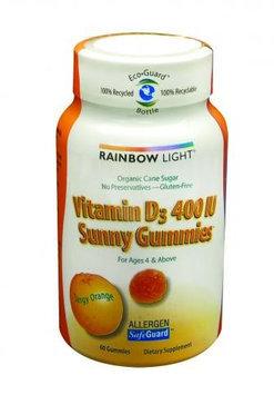 Rainbow Light 0152660 Vitamin D3 Sunny Gummies Tangy Orange - 400 IU - 60 Gummies