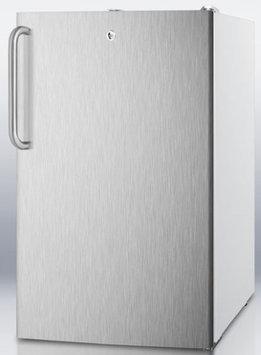 Summit CM411LBISSTB 4.1 Cu. Ft. Stainless Steel Undercounter Compact Refrigerator