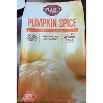 Wellsley Farms Pumpkin Spice Ground Coffee 32 ounce