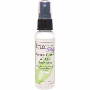 Green Clover And Aloe Body Spray, 2 ounces