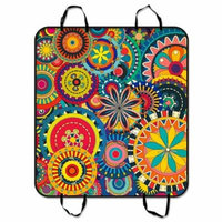 ZKGK Psychedelic Art Dog Car Seat Cover Dog Car Seat Cushion Waterproof Hammock Seat Protector Cargo Mat for Cars SUVs and Trucks 54x60 inches