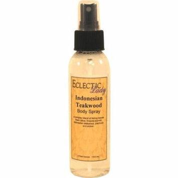 Indonesian Teakwood Body Spray, 4 ounces