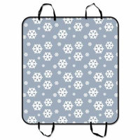 ZKGK Snowflake Dog Car Seat Cover Dog Car Seat Cushion Waterproof Hammock Seat Protector Cargo Mat for Cars SUVs and Trucks 54x60 inches
