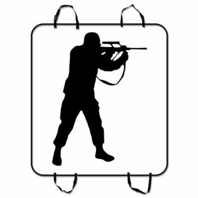 ZKGK Soldier Silhouettes Dog Car Seat Cover Dog Car Seat Cushion Waterproof Hammock Seat Protector Cargo Mat for Cars SUVs and Trucks 54x60 inches