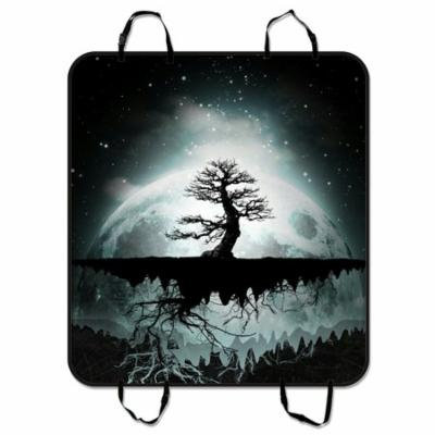 ZKGK Moonlight Scenery Dog Car Seat Cover Dog Car Seat Cushion Waterproof Hammock Seat Protector Cargo Mat for Cars SUVs and Trucks 54x60 inches
