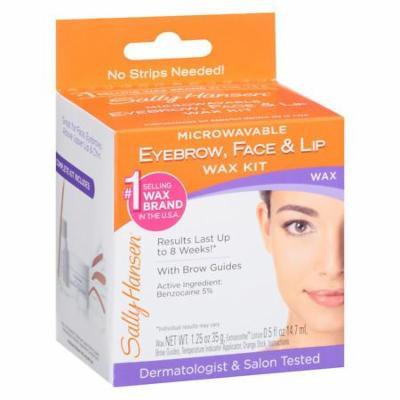 Sally Hansen Eyebrow, Face & Lip Wax 1.25 oz.(pack of 2)