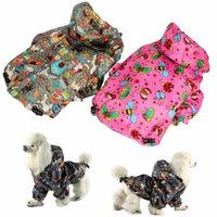 For SMALL Pet Cat Dog RainCoat Hoodie Coat WATERPROOF Rain Jacket Rainwear GREY sz XS (Length 10