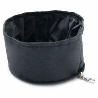 Touda Original Toy US Co.,Ltd Purrrfect Life Black Polyester Collapsible Waterproof Travel Pet Bowl