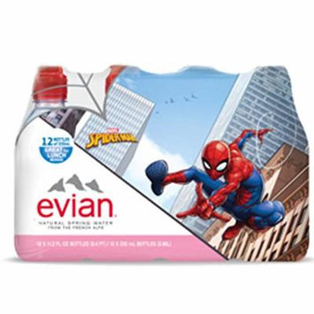 Evian Spider-Man Natural Spring Water 330 ml Sports Cap Plastic Bottles - Pack of 24