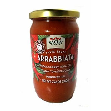All Natural Whole Cherry Tomato Arrabbiata Pasta Sauce NON GMO. Imported From Italy- 2 Jars