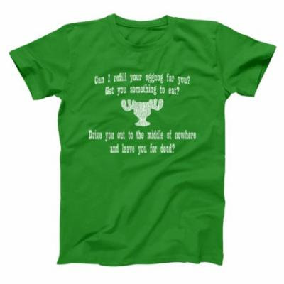 Can I Refill Your Eggnog? Moose Glass 5X-Large Green Basic Men's T-Shirt