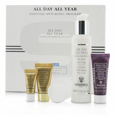 Sisley - Anti-Aging Program: All Day All Year 50ml + Black Rose Cream Mask 10ml + Supremya Night Cream 5ml + Supremya Eye Serum 1ml -4pcs