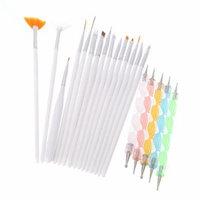 Anself 20pcs Nail Art Pen Brushes Design Painting Dotting Detailing Bundle Tool Kit