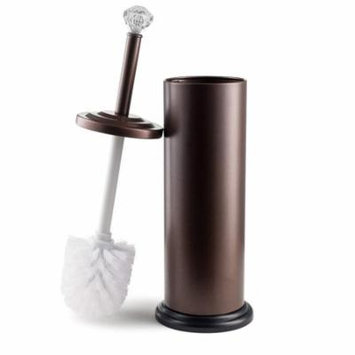 Bronze Toilet Brush Holder with Crystal Accent 17