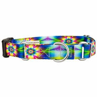 Country Brook Petz™ Tie Dye Flowers Martingale with Deluxe Buckle