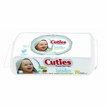 Cuties Baby Wipes Soft Pack Aloe / Vitamin E Unscented 72 Count 8 Pack