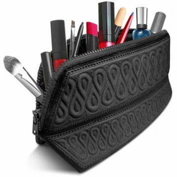Cosmetic Bag Metric USA Makeup Bag Case Organizer Fits Even Longest Makeup Brushes is Water Repellent Travel Clutch Purse Toiletry Bag is Portable Soft and Beautiful Premium Quality Foldable Design